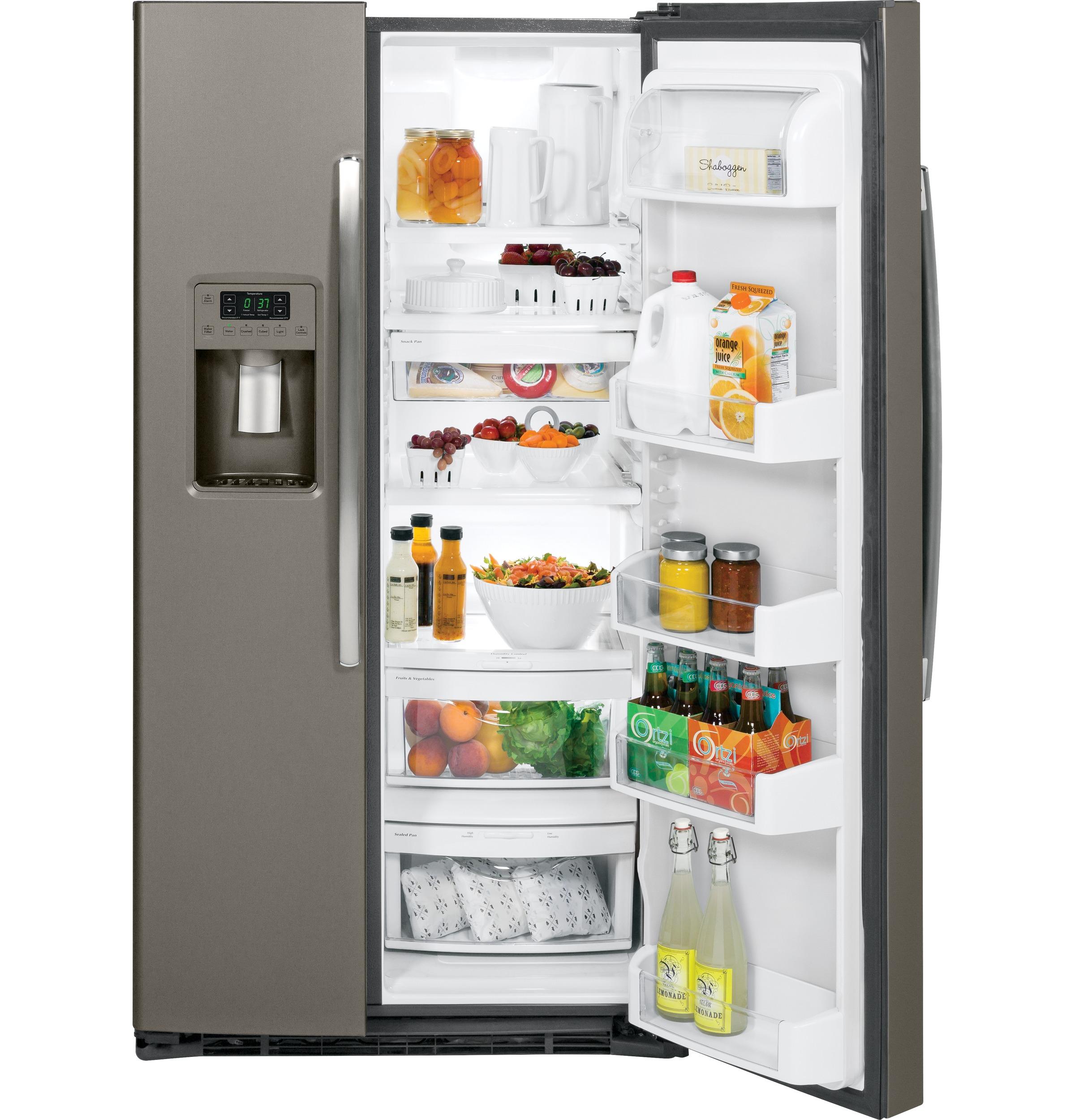 ge energy star 25 4 cu ft side by side refrigerator gse25hmh rh adaappliances com ge profile arctica refrigerator repair manual GE Counter-Depth Refrigerator Stainless