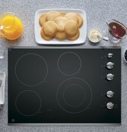 GE 30 Built-In Knob Control Electric Cooktop 02