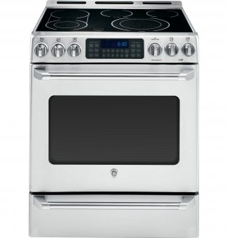 GE Cafe Series 30 Slide-In Front Control Convection Range with Baking Drawer