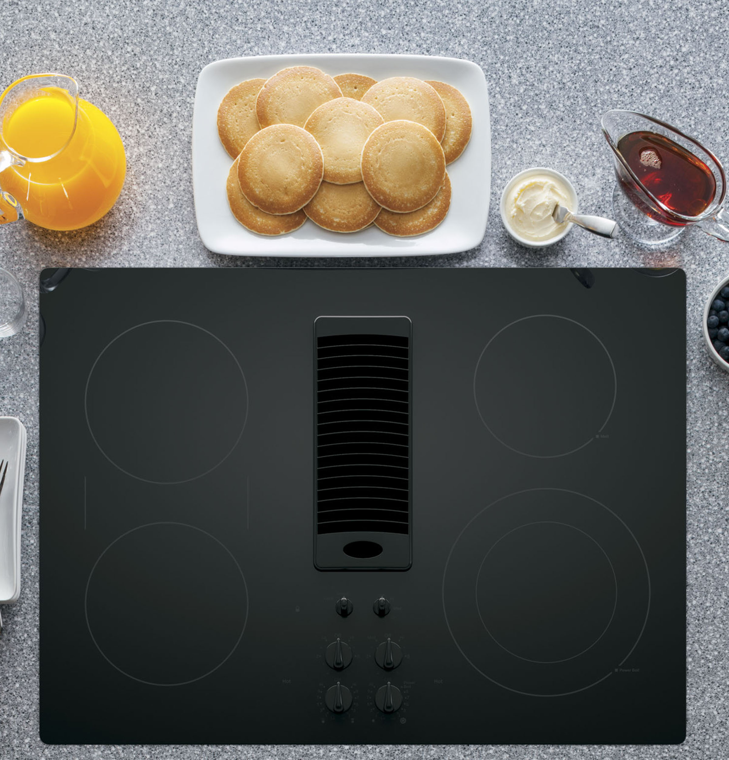 Ge Profile Series 30 Downdraft Electric Cooktop Pp9830djbb Ada
