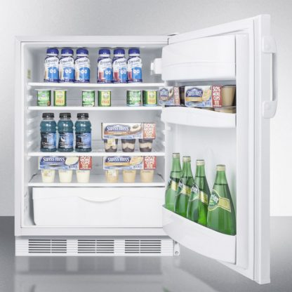 Freezerless ADA compliant refrigerators